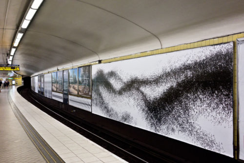 ?, poster series at Fridhemsplan subway station Stockholm 2016/17 Eva Beierheimer